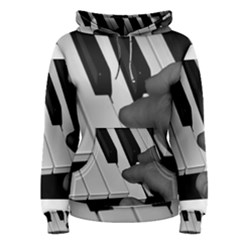 The Piano Player Women s Pullover Hoodies
