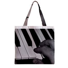 The Piano Player Zipper Grocery Tote Bags