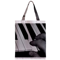 The Piano Player Zipper Classic Tote Bags
