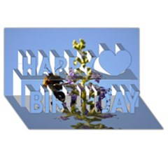 Bumble Bee 1 Happy Birthday 3d Greeting Card (8x4)