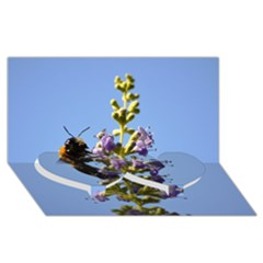 Bumble Bee 1 Twin Heart Bottom 3d Greeting Card (8x4)