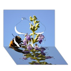 Bumble Bee 1 Clover 3D Greeting Card (7x5)