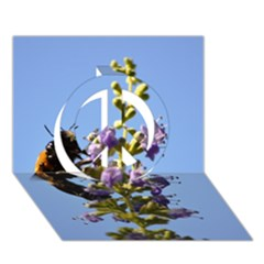 Bumble Bee 1 Peace Sign 3D Greeting Card (7x5)