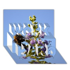 Bumble Bee 1 WORK HARD 3D Greeting Card (7x5)