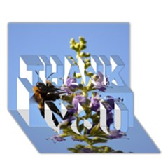 Bumble Bee 1 THANK YOU 3D Greeting Card (7x5)