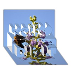 Bumble Bee 1 You Did It 3D Greeting Card (7x5)