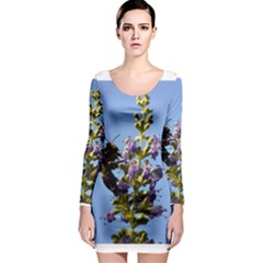 Bumble Bee 1 Long Sleeve Bodycon Dresses