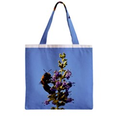 Bumble Bee 1 Zipper Grocery Tote Bags