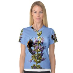 Bumble Bee 1 Women s V-Neck Sport Mesh Tee