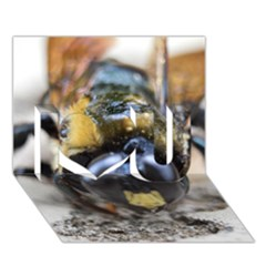 Bumble Bee 2 I Love You 3D Greeting Card (7x5)