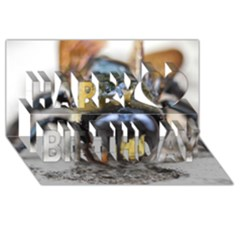 Bumble Bee 2 Happy Birthday 3D Greeting Card (8x4)