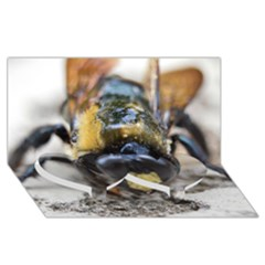 Bumble Bee 2 Twin Heart Bottom 3D Greeting Card (8x4)