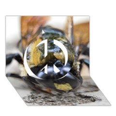 Bumble Bee 2 Peace Sign 3D Greeting Card (7x5)