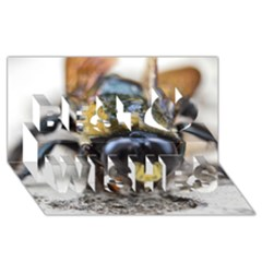 Bumble Bee 2 Best Wish 3D Greeting Card (8x4)