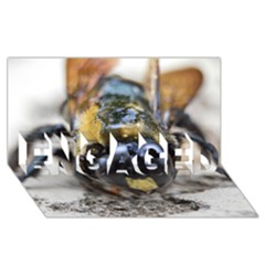 Bumble Bee 2 ENGAGED 3D Greeting Card (8x4)