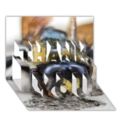 Bumble Bee 2 THANK YOU 3D Greeting Card (7x5)
