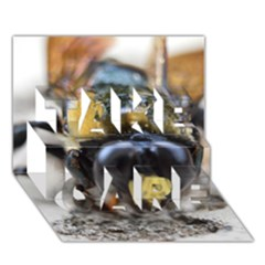 Bumble Bee 2 TAKE CARE 3D Greeting Card (7x5)
