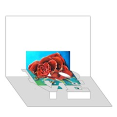 Bumble Bee 3 LOVE Bottom 3D Greeting Card (7x5)