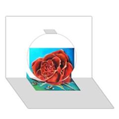 Bumble Bee 3 Circle 3d Greeting Card (7x5)