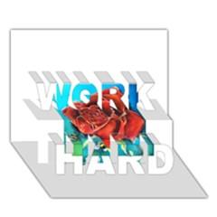 Bumble Bee 3 WORK HARD 3D Greeting Card (7x5)