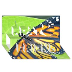 Butterfly 2 Best Friends 3D Greeting Card (8x4)