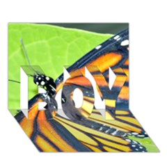 Butterfly 2 BOY 3D Greeting Card (7x5)