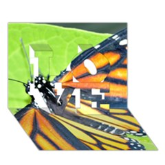 Butterfly 2 LOVE 3D Greeting Card (7x5)