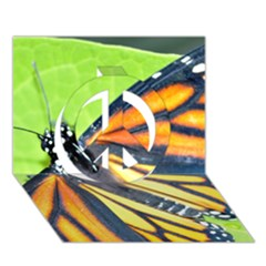 Butterfly 2 Peace Sign 3D Greeting Card (7x5)