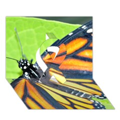 Butterfly 2 Ribbon 3d Greeting Card (7x5)