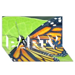 Butterfly 2 PARTY 3D Greeting Card (8x4)
