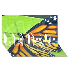 Butterfly 2 BELIEVE 3D Greeting Card (8x4)