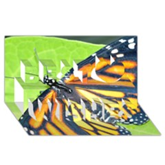 Butterfly 2 Best Wish 3d Greeting Card (8x4)