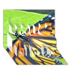 Butterfly 2 You Did It 3D Greeting Card (7x5)