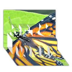 Butterfly 2 Get Well 3d Greeting Card (7x5)