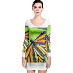 Butterfly 2 Long Sleeve Bodycon Dresses