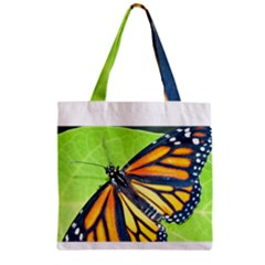 Butterfly 2 Zipper Grocery Tote Bags