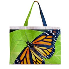 Butterfly 2 Zipper Tiny Tote Bags
