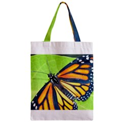 Butterfly 2 Zipper Classic Tote Bags