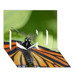 Butterfly 3 I Love You 3d Greeting Card (7x5)