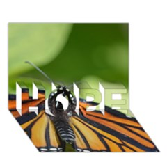 Butterfly 3 HOPE 3D Greeting Card (7x5)