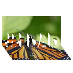 Butterfly 3 #1 DAD 3D Greeting Card (8x4)