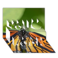 Butterfly 3 You Rock 3D Greeting Card (7x5)