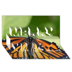 Butterfly 3 Merry Xmas 3D Greeting Card (8x4)