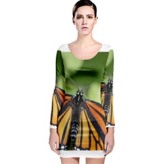 Butterfly 3 Long Sleeve Bodycon Dresses