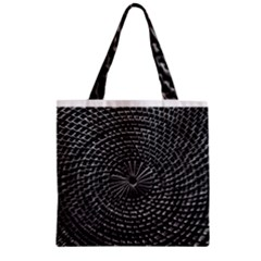 SPinning out of control Zipper Grocery Tote Bags