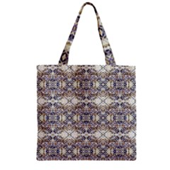 Oriental Geometric Floral Print Zipper Grocery Tote Bags