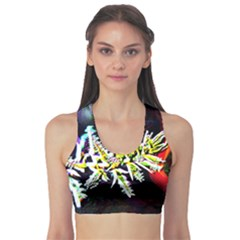 Digitally Enhanced Flower Sports Bra
