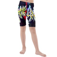Digitally Enhanced Flower Kid s swimwear