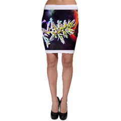 Digitally Enhanced Flower Bodycon Skirts