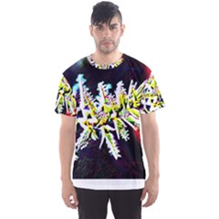 Digitally Enhanced Flower Men s Sport Mesh Tees